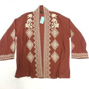 Andree by Unit embroidery Lovely Cardigan